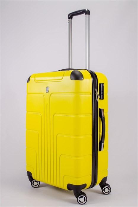 Чемодан средний PC желтый - фото 52433