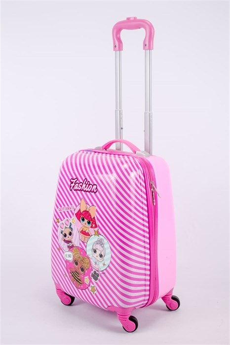 Детский чемодан PC на колесиках розовый 13347 - фото 52686
