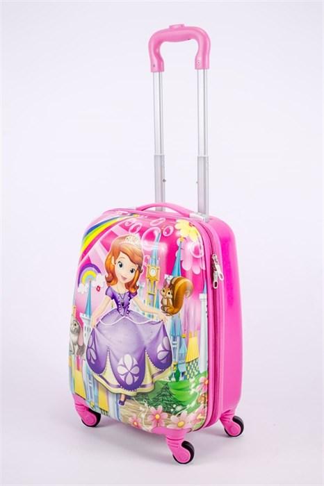 Детский чемодан PC на колесиках розовый 13346 - фото 52693