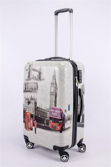 Чемодан средний PC принт Лондон с автобусом - фото 52735