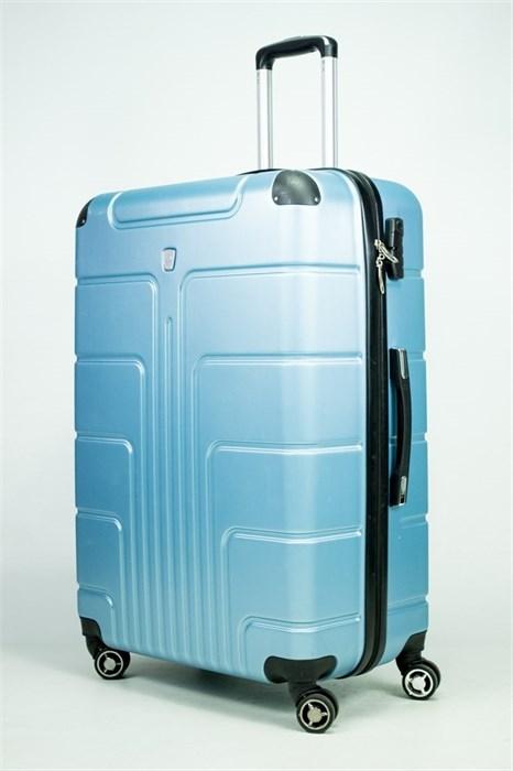 Чемодан большой PC голубой металлик - фото 52763