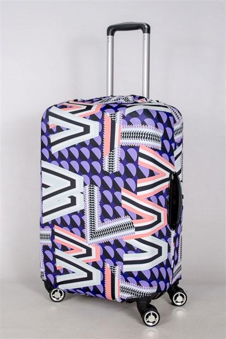 """Чехол для среднего чемодана """"геометрический беспорядок"""" 13388 - фото 52829"""