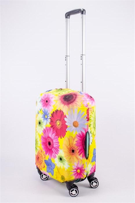 """Чехол для маленького чемодана """"крупные разноцветные ромашки"""" 13523 - фото 53065"""