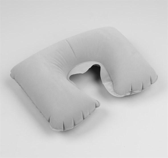 Подушка для шеи дорожная, надувная, 38 × 24 см, цвет серый 563997 - фото 53143