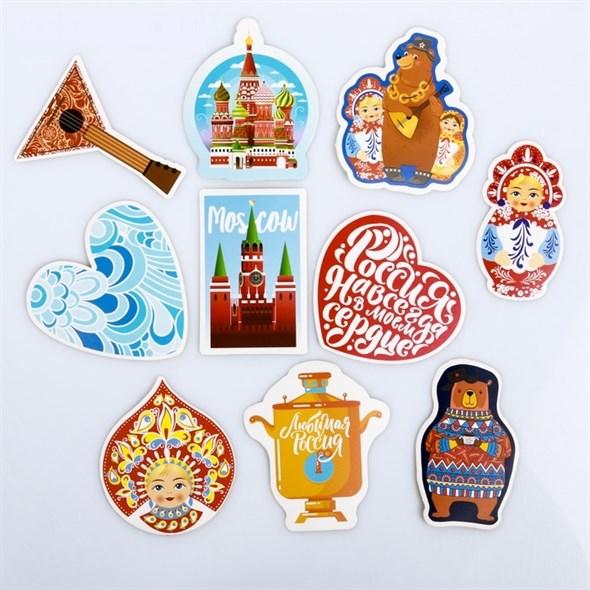 Наклейки на чемодан «Русские мотивы», 8 × 8 см  4231979 - фото 53146