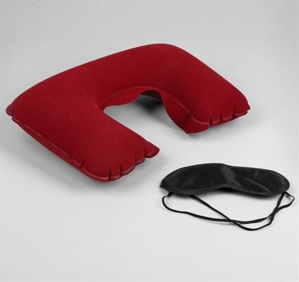 Набор путешественника: подушка для шеи, маска для сна  563998 - фото 53155
