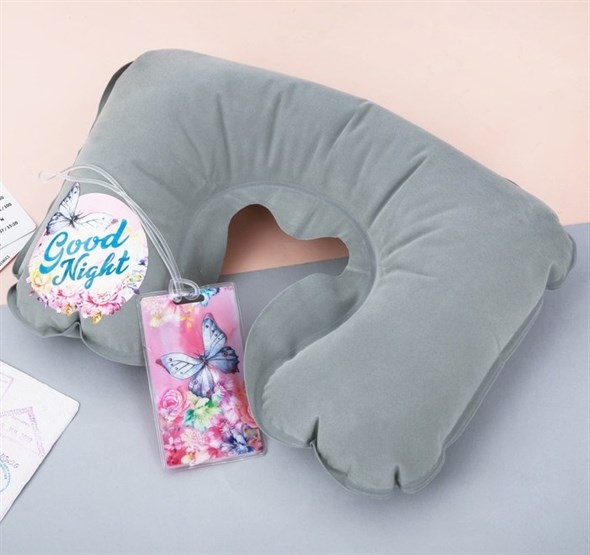 Дорожный набор «Good night»: надувная подушка, бирка на сумку  3558236 - фото 53199