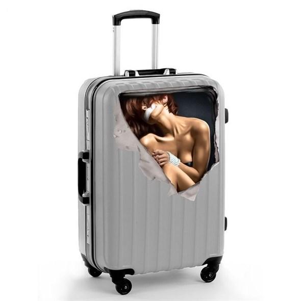Наклейка на чемодан «Девушка», 41 × 39 см 1179709 - фото 53207