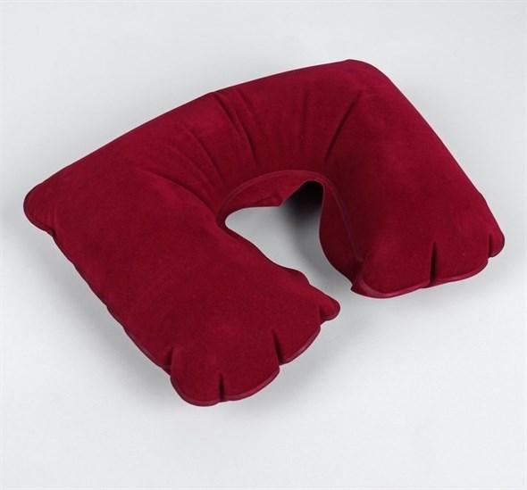 Подушка для шеи дорожная, надувная, 38 × 24 см, цвет бордовый  778032 - фото 53325