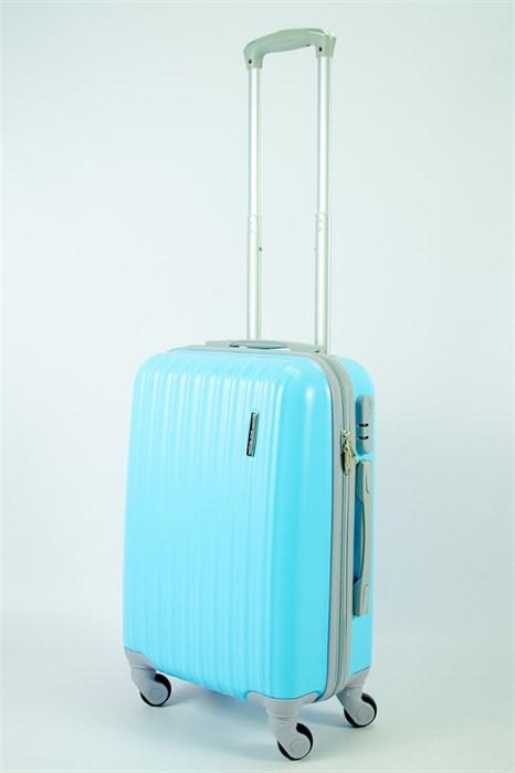 Чемодан маленький ABS TT (верт  полоски) голубой  СФ - фото 53335