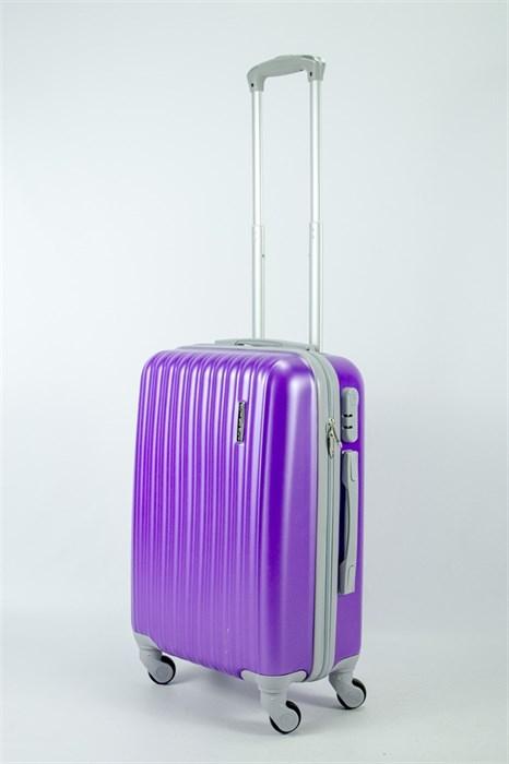 Чемодан маленький ABS KK (верт полос)  фиолетовый (СФ) - фото 53370