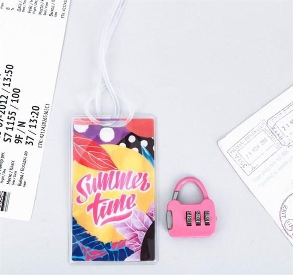 Дорожный набор «Summer time»: багажная бирка, замок 3558302 - фото 53378