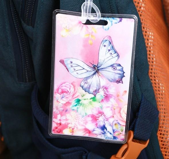 Бирка на чемодан «Бабочка», 6.5 × 10 см 3613089 - фото 53393