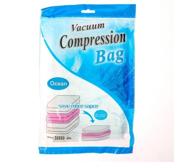 """Вакуумный пакет для хранения одежды ароматизированный 50х60 см """"Морской бриз""""  3782367 - фото 53585"""