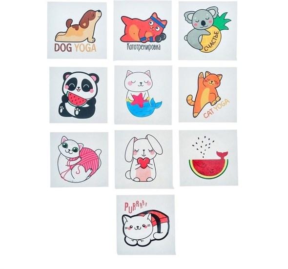 Наклейки стикеры «Милые зверушки», 7 × 7 см   3567428 - фото 53589