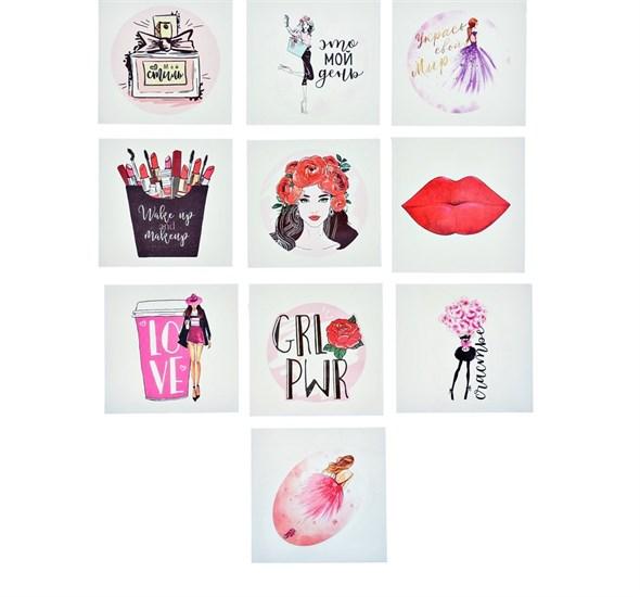 Наклейки стикеры Girls power, 7 × 7 см   3567420 - фото 53596