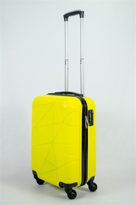 Чемодан маленький ABS (паутинка) желтый  ЧФ - фото 53605