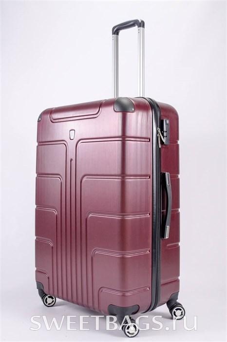 Чемодан большой PC бордовый - фото 53647