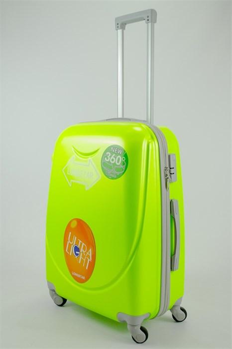 Чемодан средний ABS 360-гр smile кислотно-зеленый - фото 53918