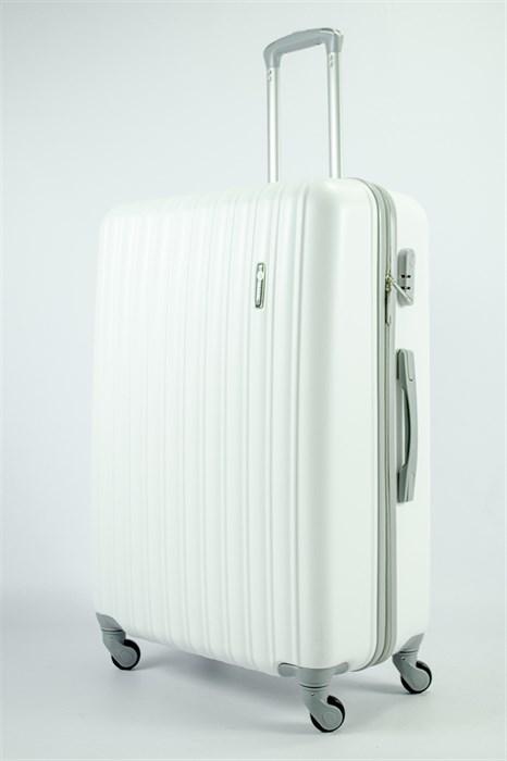 Чемодан большой ABS KK (верт  полосы)  белый - фото 54163