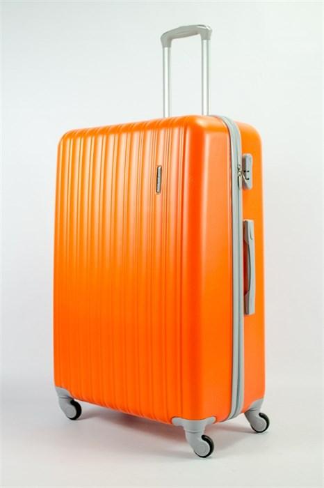 Чемодан большой ABS KK (верт полосы)  оранжевый - фото 54184