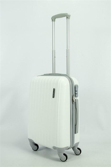 Чемодан маленький ABS TT (верт  полоски) белый СФ - фото 55207