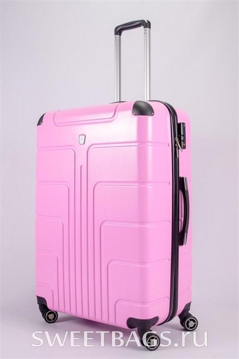 Чемодан большой PC розовый - фото 55407