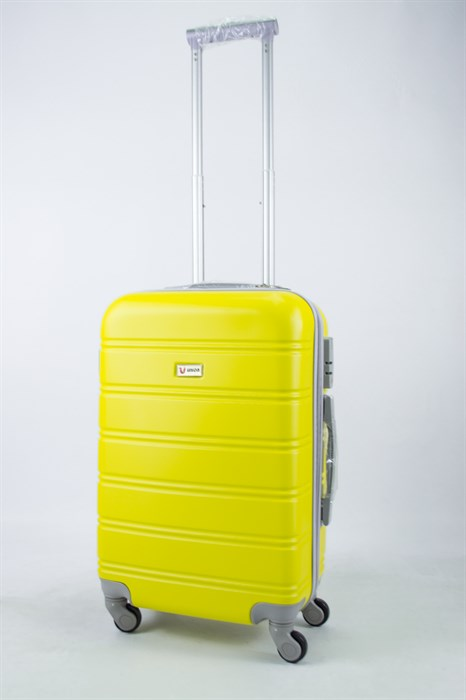 Чемодан маленький ABS Union (гориз. полоски) жёлтый - фото 55860