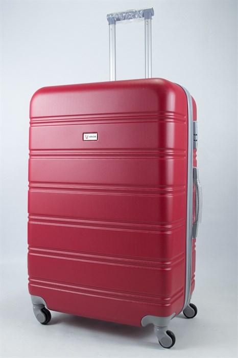 Чемодан большой ABS Union (гориз. полосы)  красный - фото 55909