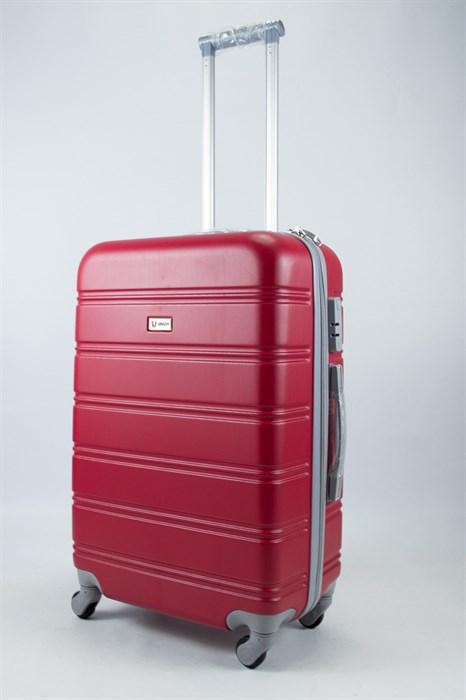 Чемодан средний ABS Union (гориз. полосы) красный - фото 55915