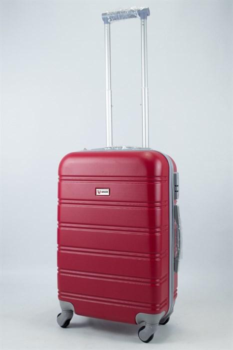 Чемодан маленький ABS Union (гориз. полоски) красный - фото 55922