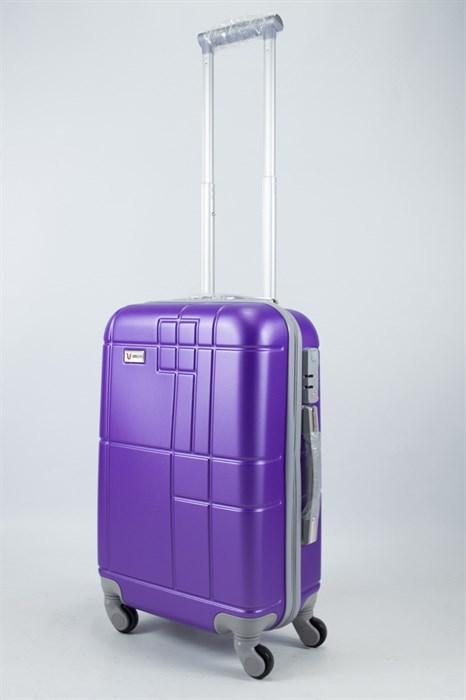 Чемодан маленький ABS Union (кубик) фиолетовый - фото 55965