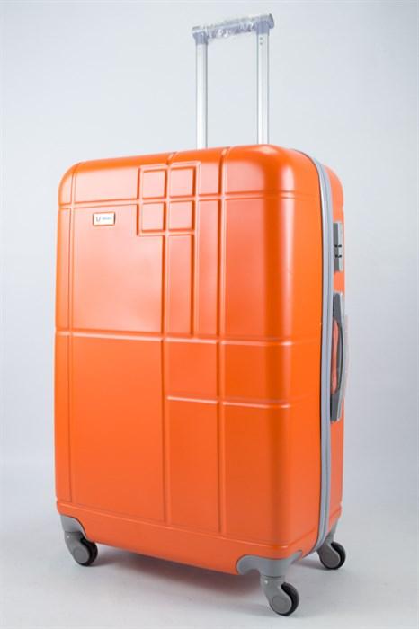 Чемодан большой ABS Union (кубик) оранжевый - фото 55972