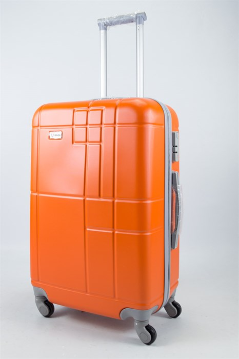 Чемодан средний ABS Union (кубик) оранжевый - фото 55979