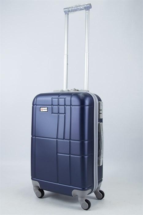 Чемодан маленький ABS Union (кубик) темно - синий - фото 56028