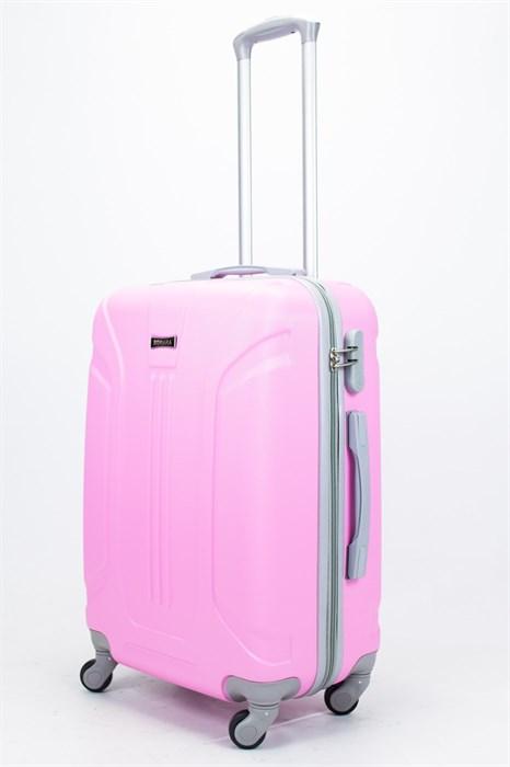 Чемодан средний ABS Ananda (3 полосы) розовый - фото 57272