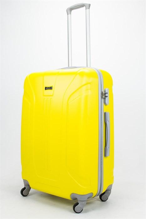 Чемодан большой ABS Ananda (3 полосы) желтый - фото 57282