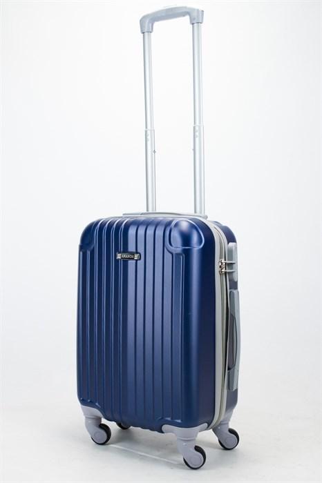 Чемодан маленький ABS Ananda (верт. полоски и углы) темно-синий - фото 57322