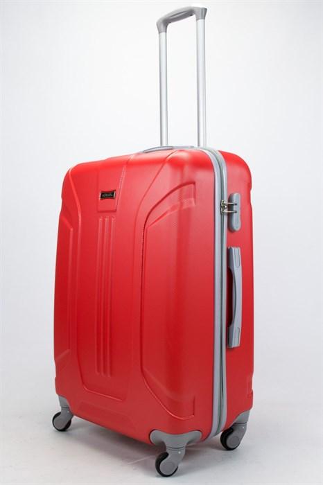 Чемодан большой ABS Ananda (3 полосы) красный - фото 57333