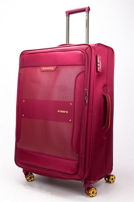Чемодан большой текстильный Mironpan Techpro с расширением красный - фото 57412