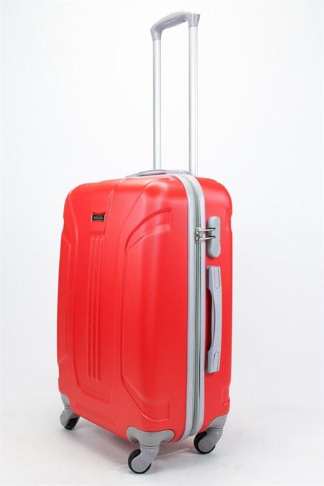 Чемодан средний ABS Ananda (3 полосы) красный - фото 57442