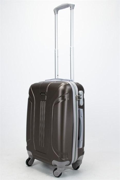 Чемодан маленький ABS Ananda (3 полосы) коричневый - фото 57447