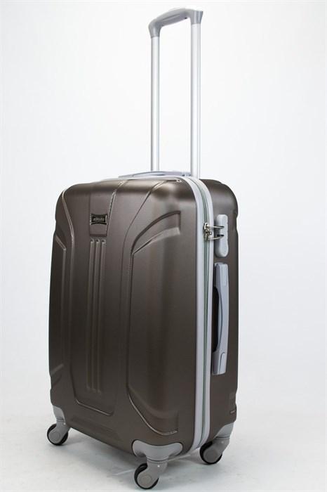 Чемодан средний ABS Ananda (3 полосы) коричневый - фото 57457