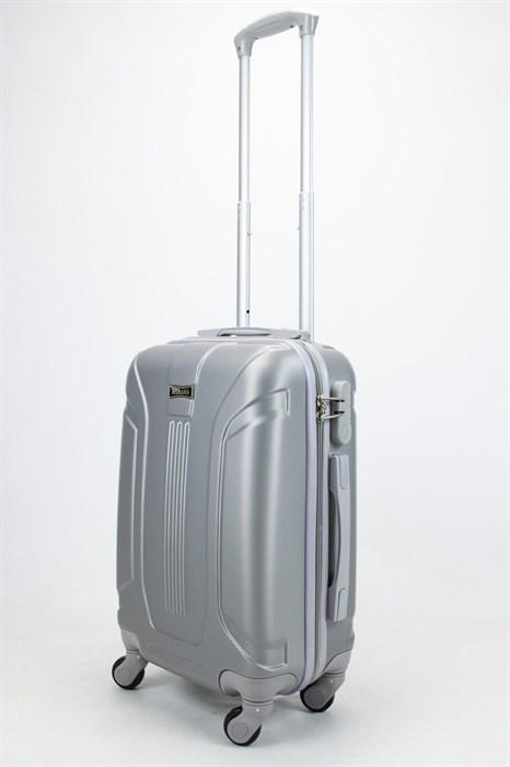 Чемодан маленький ABS Ananda (3 полосы) серебристый - фото 57467