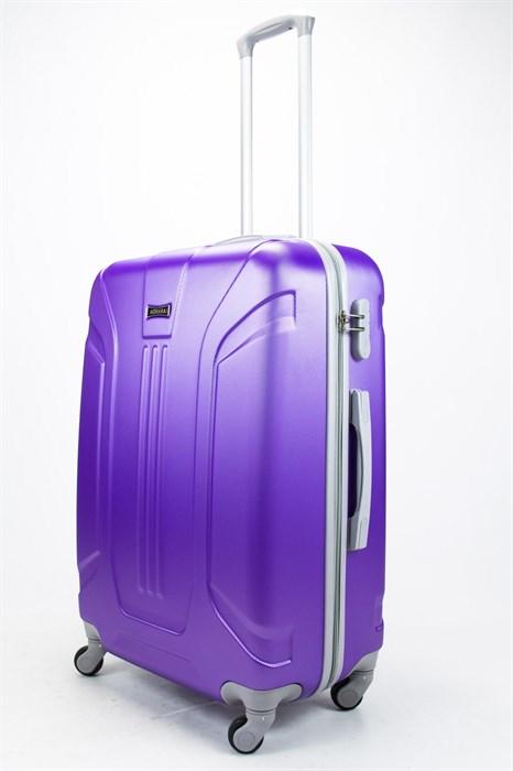 Чемодан большой ABS Ananda (3 полосы) фиолетовый - фото 57487