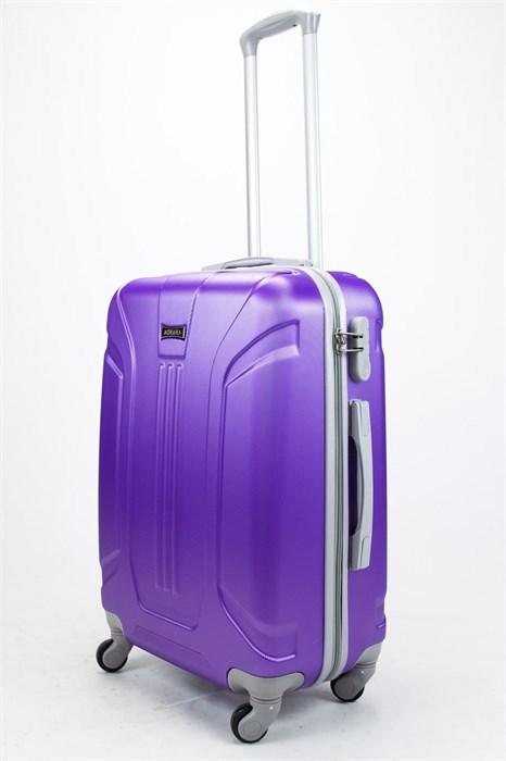 Чемодан средний ABS Ananda (3 полосы) фиолетовый - фото 57492