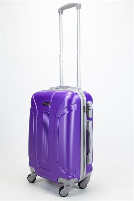 Чемодан маленький ABS Ananda (3 полосы) фиолетовый - фото 57760