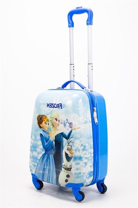 Детский чемодан PC на колесиках синий - фото 57775