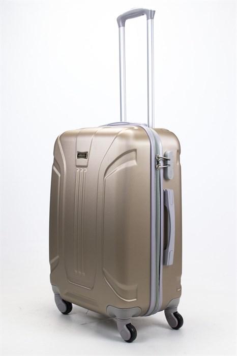 Чемодан средний ABS Ananda (3 полосы) песочный - фото 57795