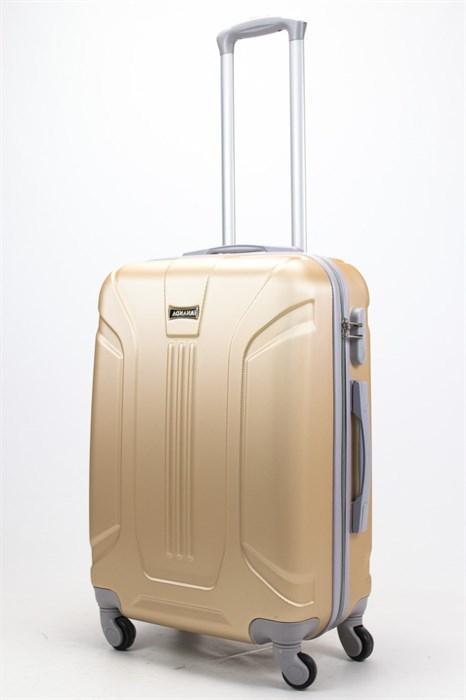 Чемодан средний ABS Ananda (3 полосы) золотой - фото 57810